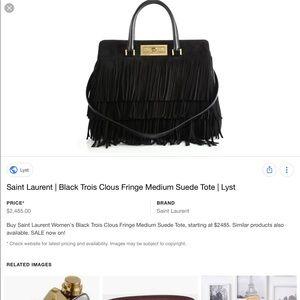 1537c7aef0 Saint Laurent Bags - Saint Laurent Trois Clous Medium Fringe Tote